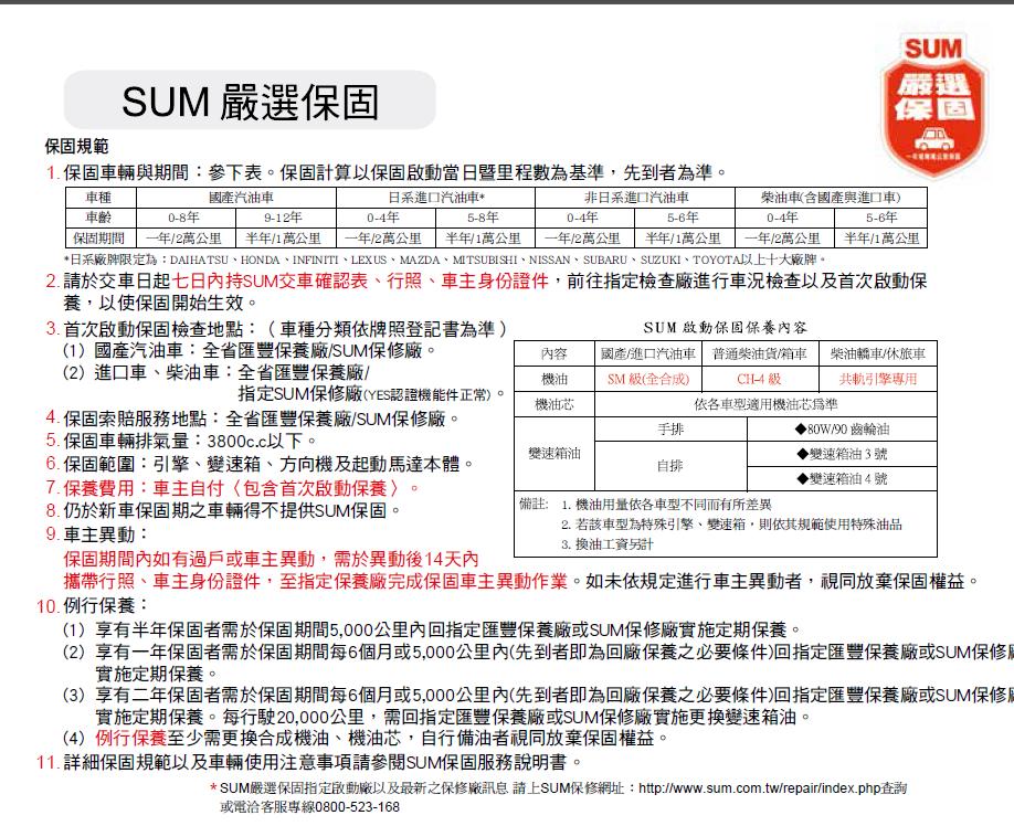 SUM優質車商聯盟